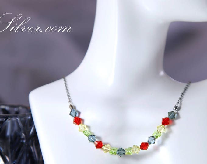 Colorful Crystal Swarovski Butterfly Collar Necklace, Summer Crystal Collar Necklace, Multicolor Butterfly Swarovski Crystal Collar Necklace