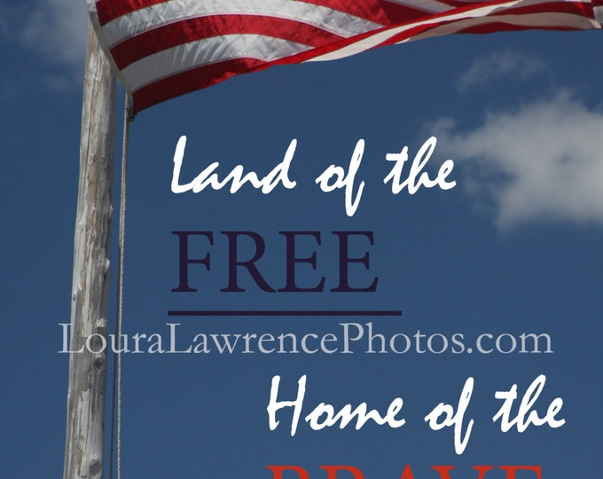 Fourth of July Card, Independence Day Card, Veteran's Day Card, Patriotic Red White and Blue Art, American Flag Photography Card or Print