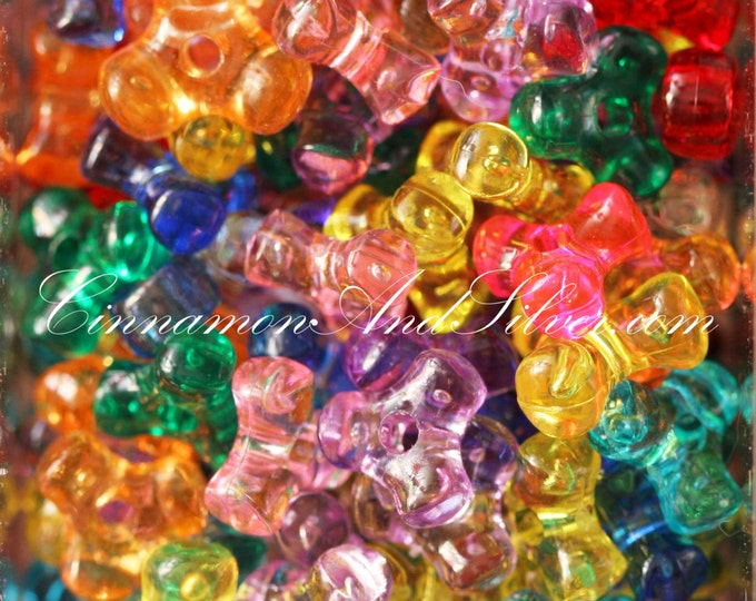 30 Pack Multicolored Variety Jewel Tone Tricorner Plastic Beads for Jewelry Crafts, 10x4mm by The Beadery