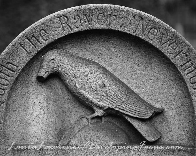 Edgar Allan Poe Grave Photography, Poe Tombstone Photography, Quoth the Raven Cemetery Photography