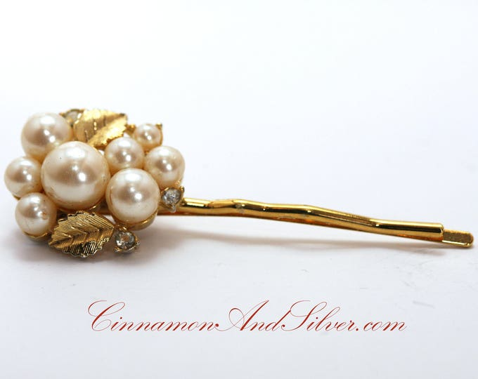 Vintage Wedding or Special Occassion Bobby Pins, Vintage Pearl Cluster Hair Accessories, Upcycled Vintage Pearl Jewelry Hair Pins