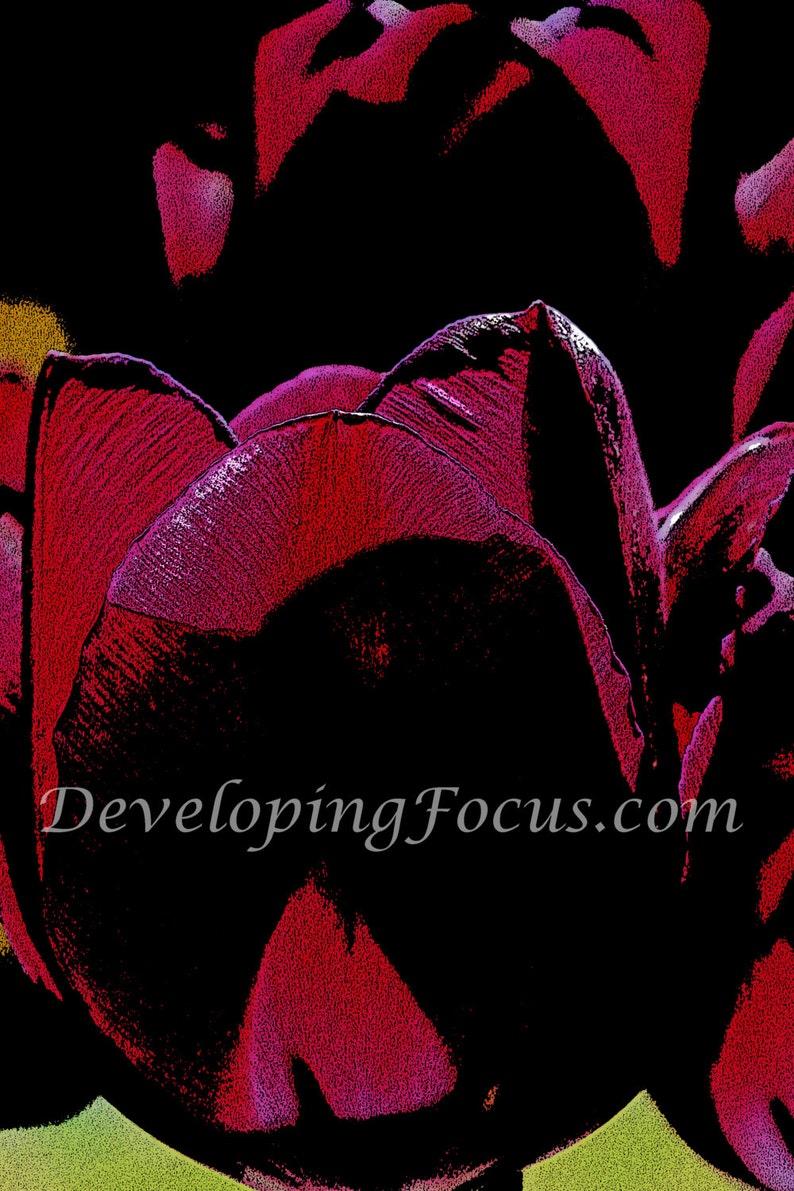 Purple Tulip Art Print Botanical Print Download Nature image 0