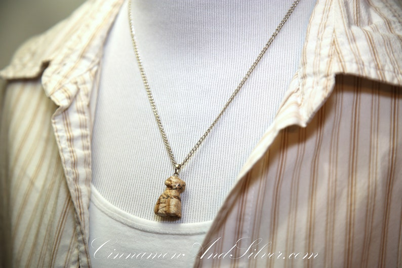 Carved Animal Gemstone Layering Pendant Necklaces in Picture image 0