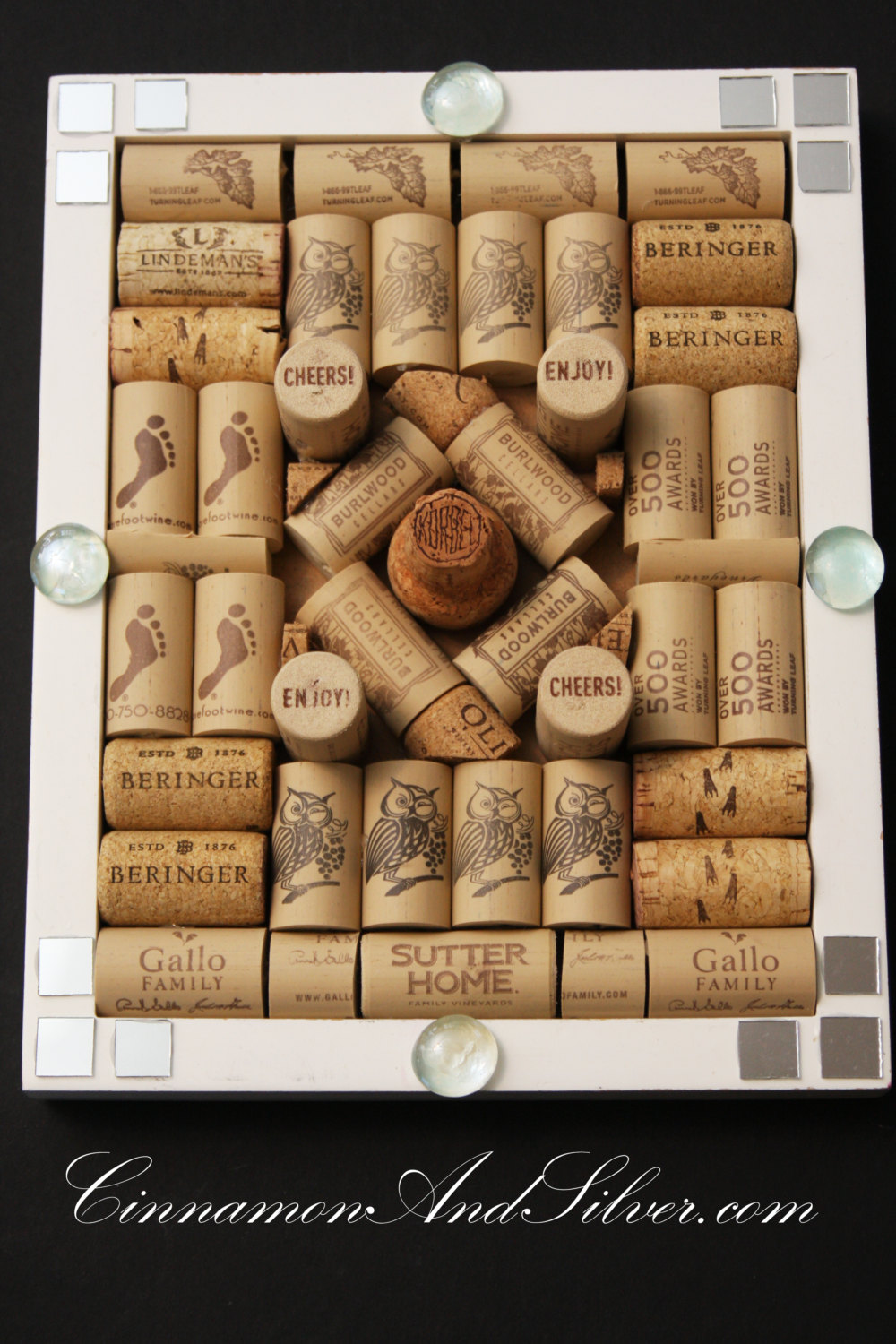zoom Upcycled Wine Cork Message Board Wine