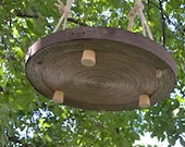 UNUSUAL PLANT HANGER/ Hanging Cat Hammock, Large Barrel Hoop, Round Hanging Cat Bed, Plant Ceiling Holder for Indoor Garden, Rustic Decor