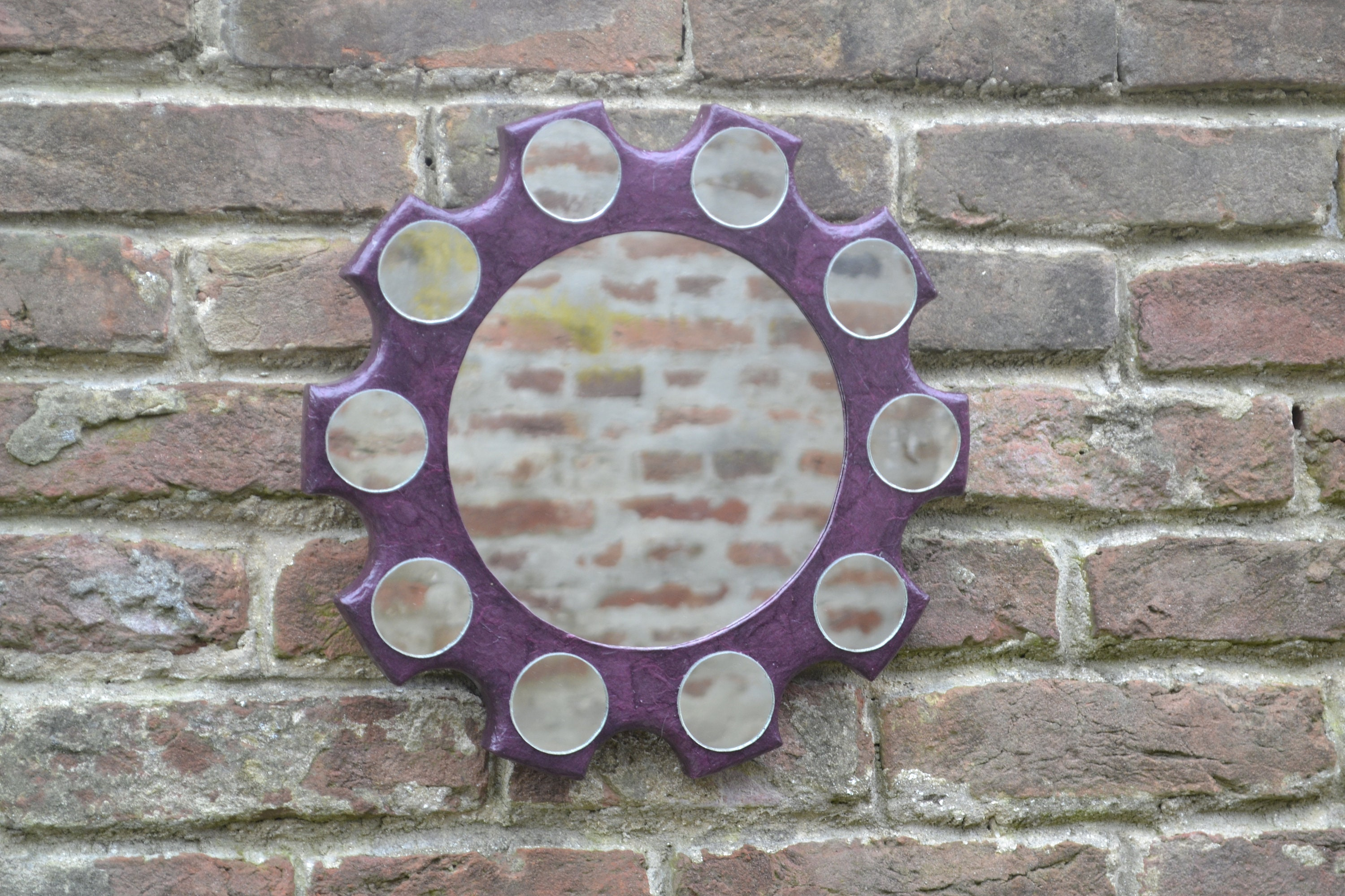 Decorative Wall Mirror Large Gear Mirror with 10 small ...