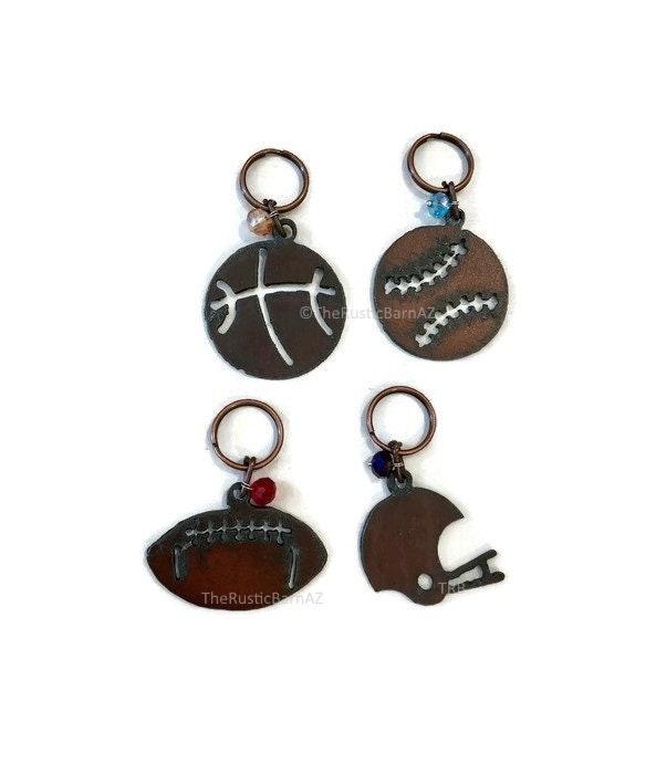 SPORTS FOOTBALL BASEBALL basketball Style Keychains