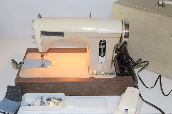 Heavy Duty All Metal Two Tone Signature Sewing Machine W Case Etsy Gorgeous Signature Sewing Machine