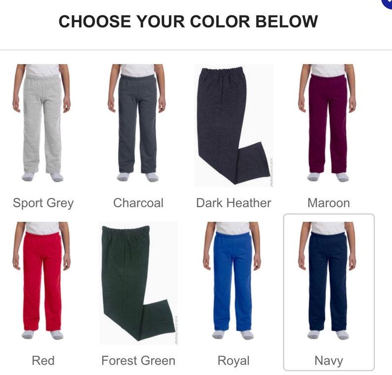 game day gear rocket pride Youth Rocket Basketball sweatpants matching pants custom apparel custom sweats personalized sweats
