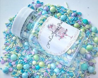Mermaid sprinkles, sprinkle medley, sprinkles, cake toppers, cake decorations, baking supplies. Sprinkle mix