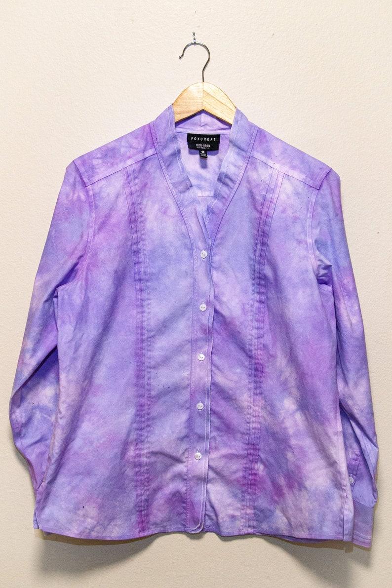 The Deidre Lavender Blouse I Foxcroft I Size 14