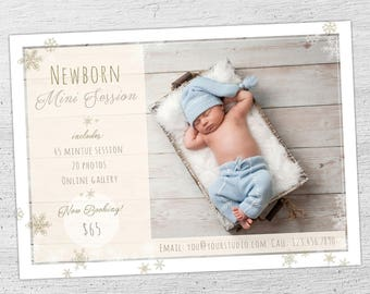 Newborn Marketing Template, Mini Session Template, Photographer Baby, Photographer Templates, Photoshop Template, Baby, Newborn - 02-002-MB