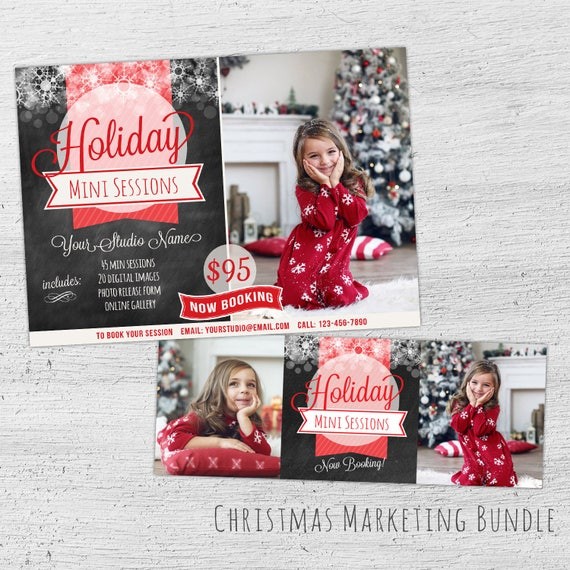 Holiday Mini Session Template Facebook Timeline Cover Christmas