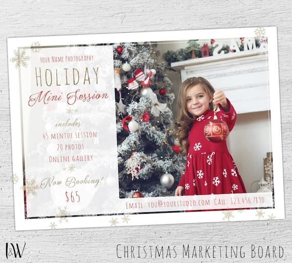 Christmas Mini Template Holiday Session