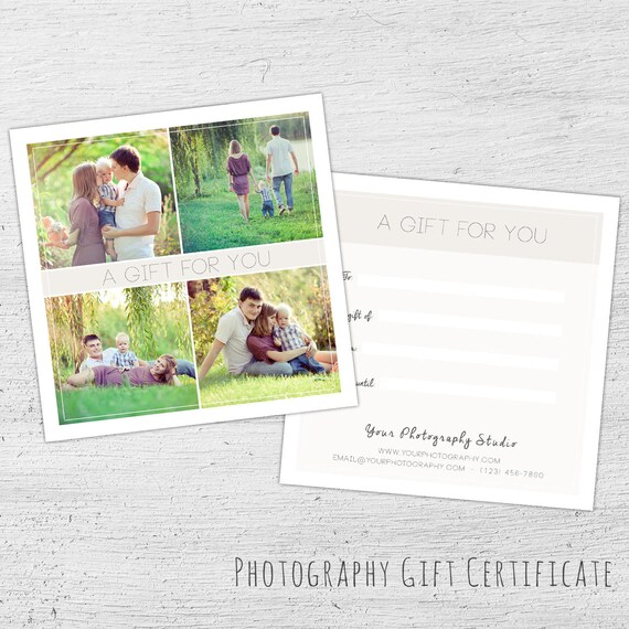 Photography Gift Certificate Spring Photoshop Template Etsy
