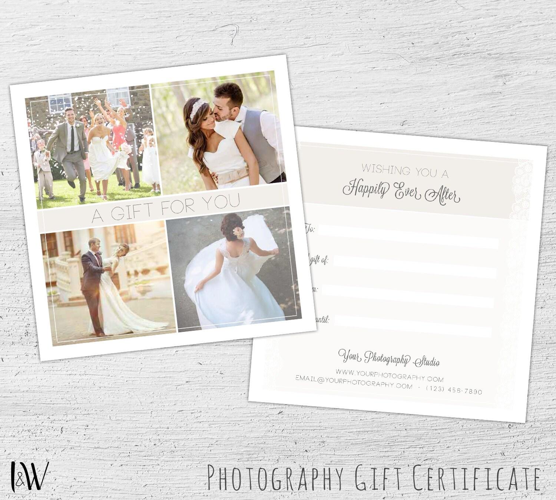 Wedding Gift Card Photoshop Template Wedding Photography Etsy