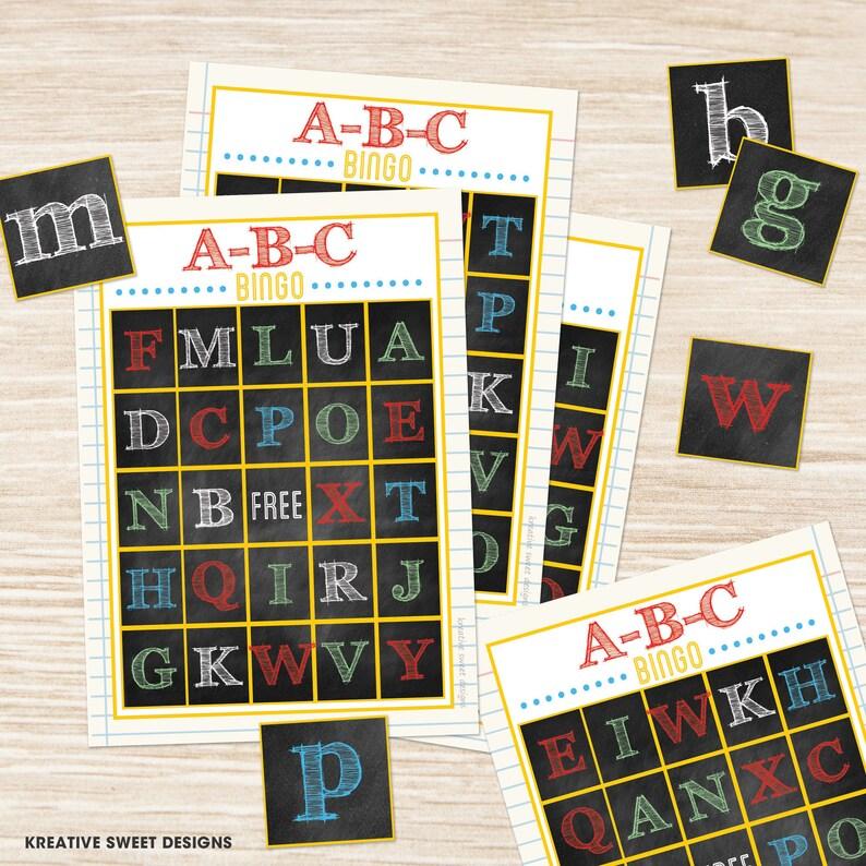 image regarding Abc Bingo Printable identify Printable ABC Bingo Activity Electronic Fast Obtain