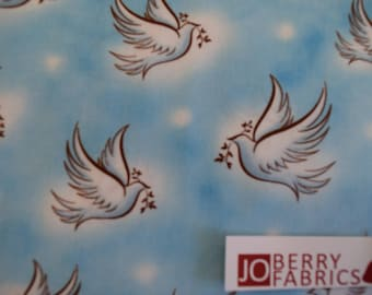 Doves from the Our Fathers Collection by Studio 8 for Quilting Treasures.  JoBerry Fabrics, Fabric by the yard.