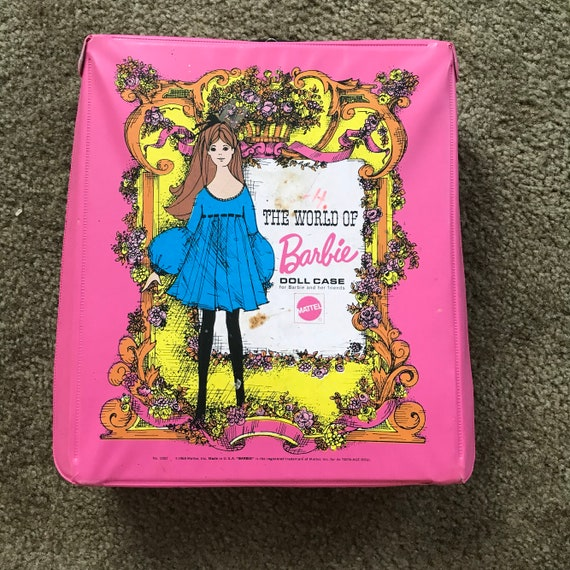 1968 Mattel The World Of Barbie Doll Case Pink Doll Carrying | Etsy