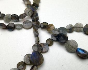 Labradorite circles necklace