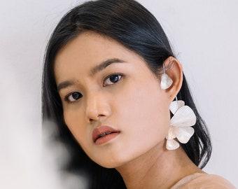 Whole ear earring wrap in handmade silver (E0211)