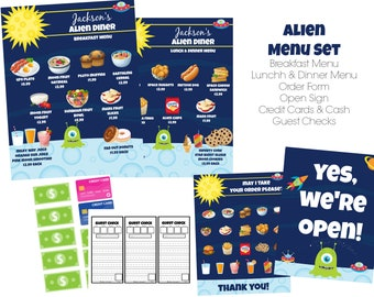 036a008157f INSTANT Download Dramatic Play Alien Diner   Restaurant Printable Download  Files