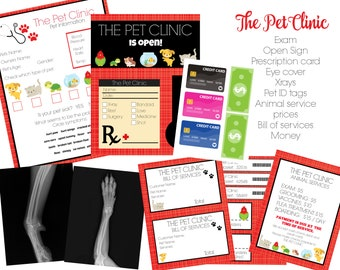 2bbc3a54ca5 Personalized INSTANT Download Dramatic Play Pet Clinic - Digital Printable