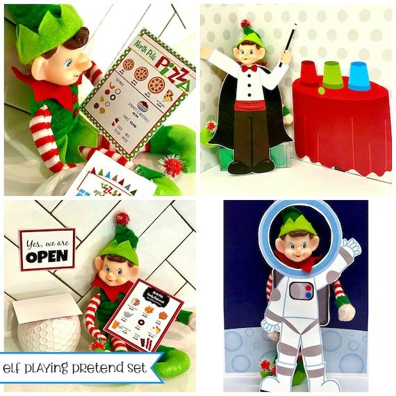 Elf Christmas PLAYING PRETEND Activities Set  DIY Printable