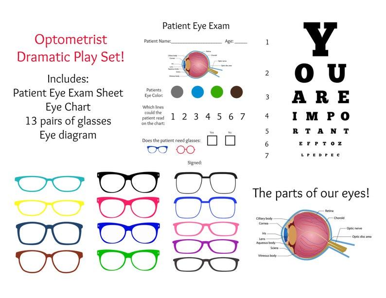 c5b8cf29a37 INSTANT Download Dramatic Play OPTOMETRIST   Eye DOCTOR Exam