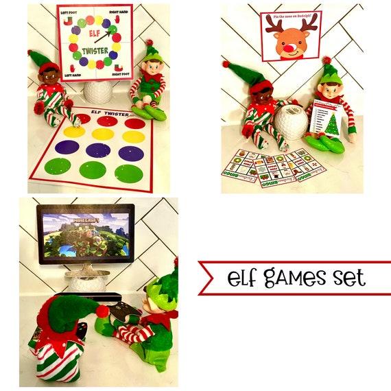 Elf Christmas GAMES Activities Set  DIY Printable Page Files