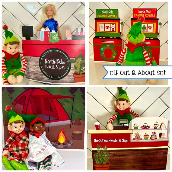 Elf Christmas OUT & ABOUT Activities Set  DIY Printable Page