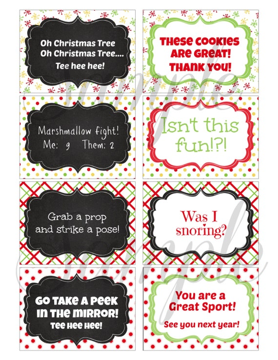 Instant Download Christmas Elf Mischief Ideas And Note Cards Etsy