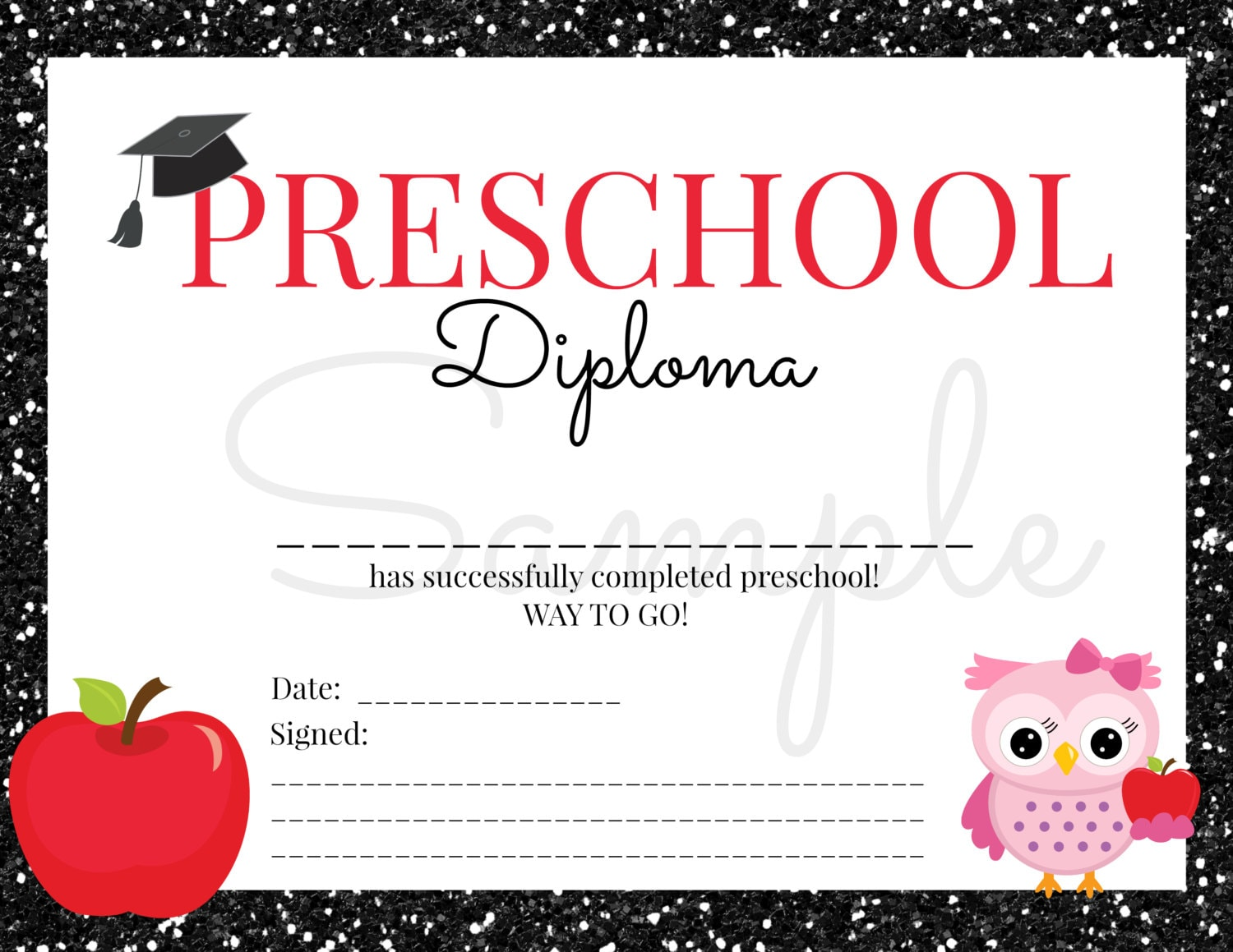 Inventive image inside printable preschool graduation certificates