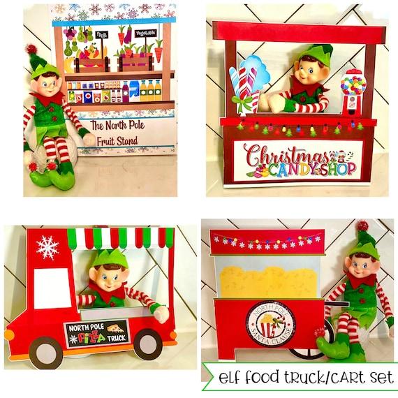 Elf Christmas FOOD TRUCKS Activities  DIY Printable Page