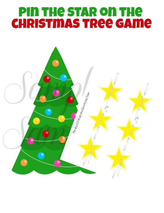 Items Similar To On Sale Instant Download Pin The Star On The