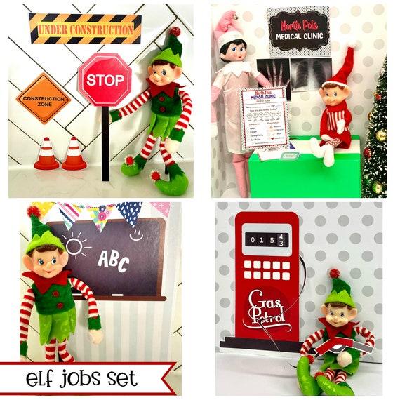 Elf Christmas JOBS Professions Activities Set  DIY Printable
