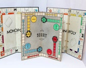 Vintage Board Game Boards Without Pieces Monopoly & Sorry from 1930s, 1940s, 1950s