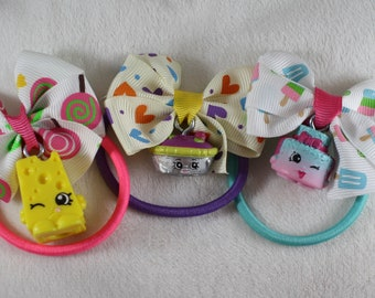 3 Piece Shopkins Toy Hair Ties