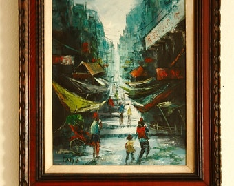 Collectible asian oil paintings