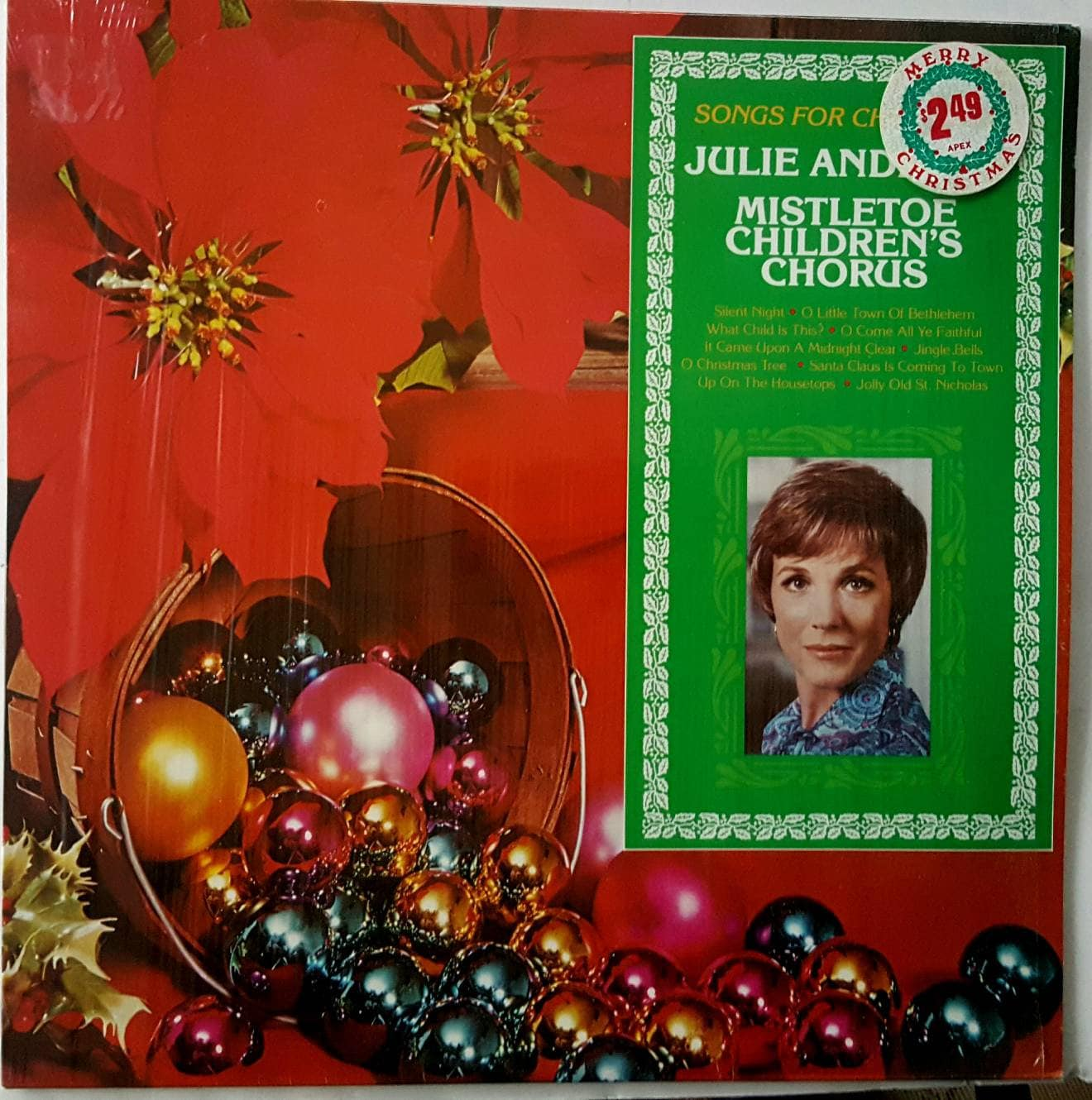 Vintage Christmas album: Songs For Christmas by Julie Andrews   Etsy