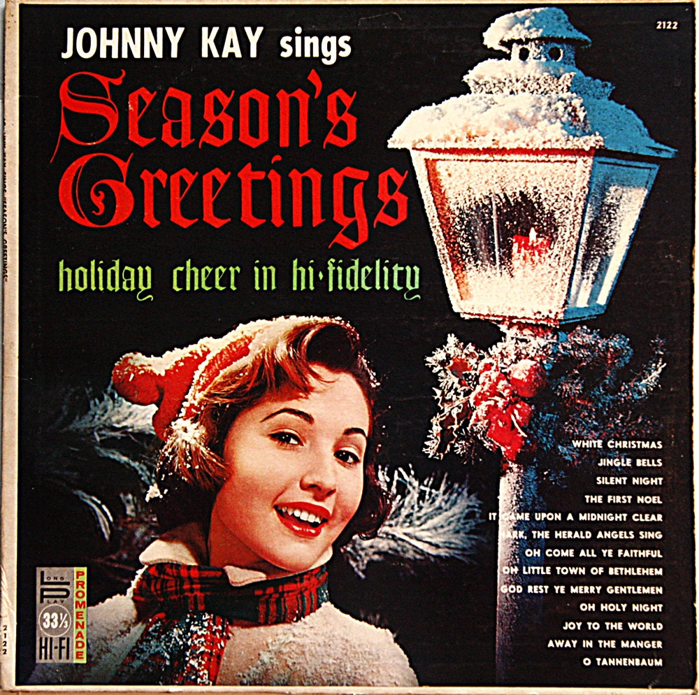 Vintage Christmas album: Johnny Kay Sings Season\'s | Etsy