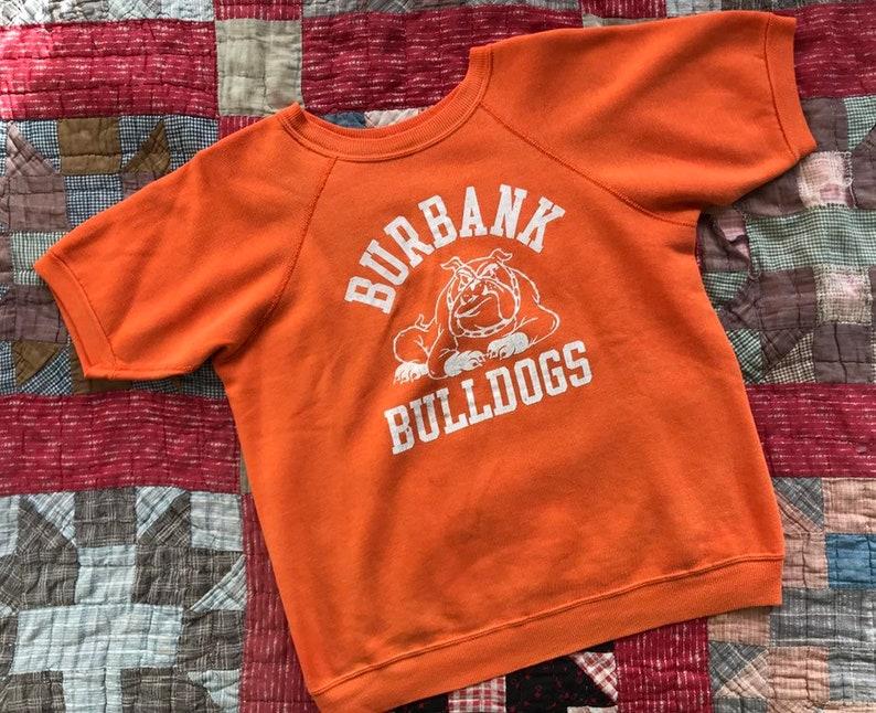 Vintage Burbank Bulldogs soft cotton athletic pullover sweatshirt