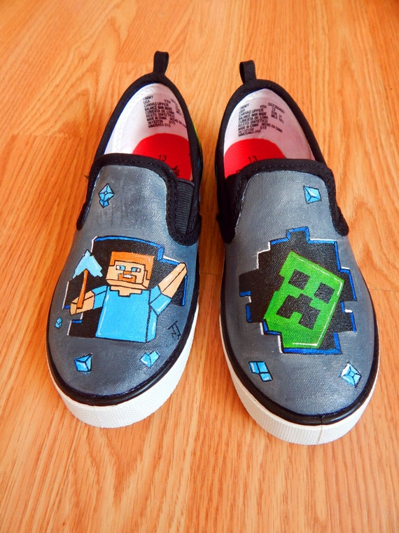 Hand Painted Minecraft Steve And