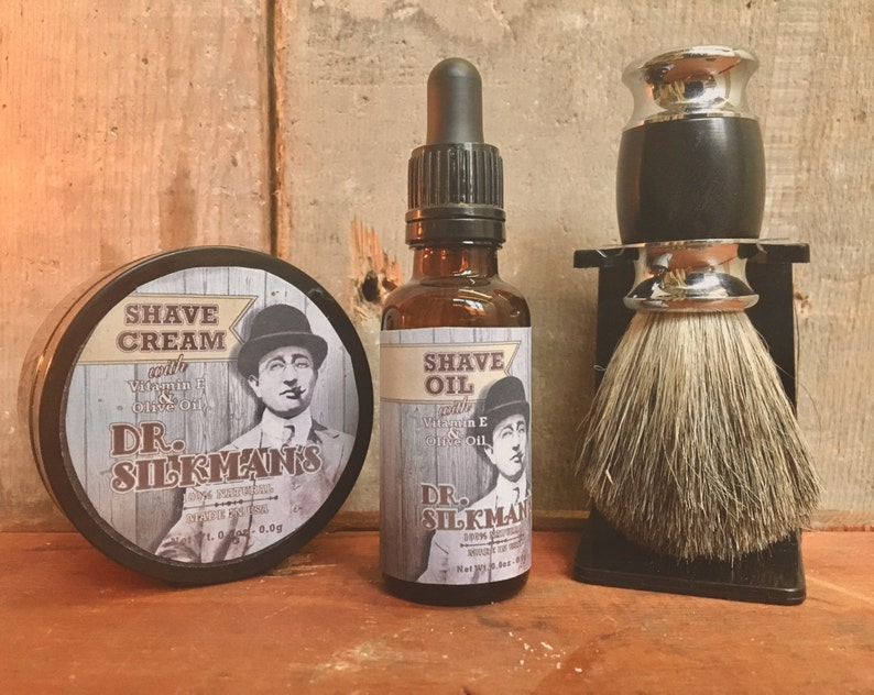 Shave Oil and Shave Cream Set Handmade and All Natural image 0