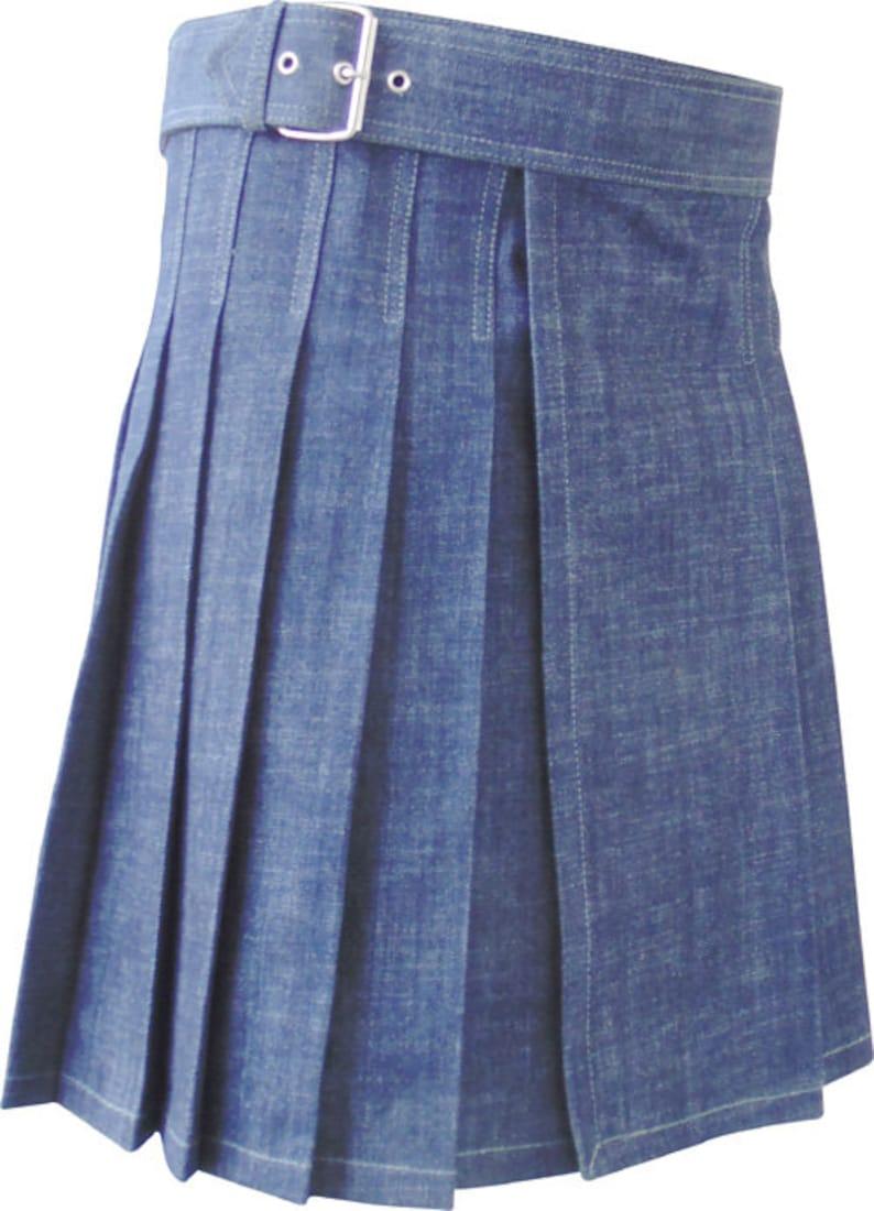 Denim Kilt  BKLN-002  Blue