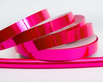 Pink (Fluorescent) Mirror Custom Hoop