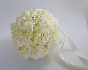"3"" - 7 "" Wedding Pomander, Wedding Flower Balls, Flower Girl Kissing Ball,  Bouquet Alternative"