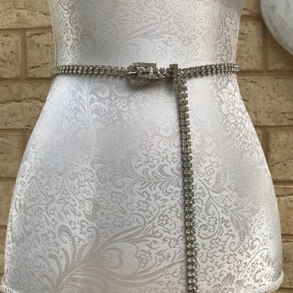 Vintage 50s Rhinestone Diamante Belt