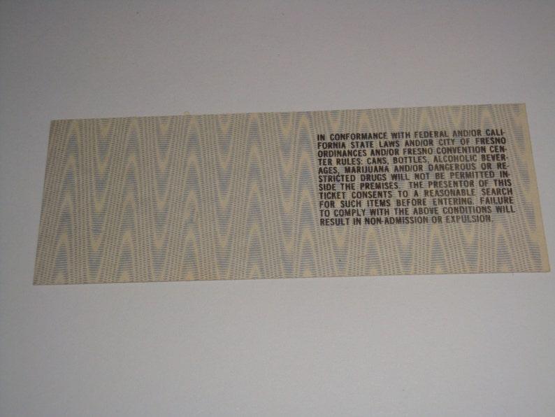 ROD STEWART 1977 Original Unused Ticket   Selland  Arena  Fresno California USA