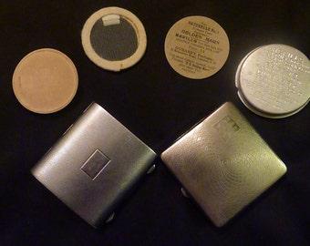 Vintage Rowenta & Dubarry  compact powder compact pocket mirror compact mirror